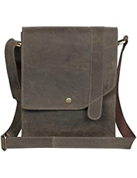 Woodons Premium Unisex Leather Sling Bag (Brown, STB40)