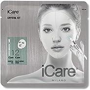 iCare Crystal Kit Trattamento in Maschera Rigenerante e Antietà con Crystal Oil, Monouso, Idratante, Elasticiz