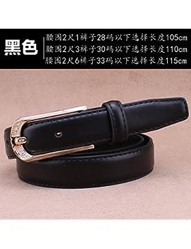 SILIU*Los cinturones pélvicos reparto femenino mujeres del cinturón de cuero hebilla de correa la Sra. elegante...