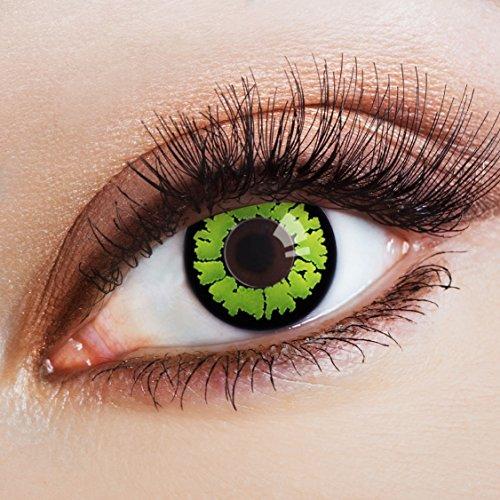 aricona Farblinsen Farbige Kontaktlinse Welcome to the Jungle -Deckende Jahreslinsen für dunkle und helle Augenfarben ohne Stärke,Farblinsen für Karneval,Fasching,Motto-Partys und Halloween Kostüme
