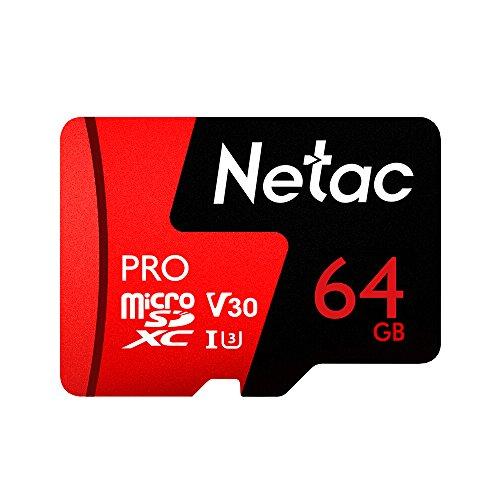 Docooler Stockage de données de Carte mémoire de Pro SDXC TF de Netac 64GB/128G V30 / UHS-I U3 à Grande Vitesse jusqu'à 98MB / s