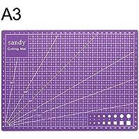 Vinkent A3 Cutting Mat Cutting Underlay A3 Tabla de corte Placa de corte Herramienta hecha a mano para mano Bloque de forma Material de PVC duradero (púrpura)