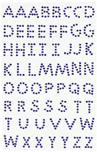 Crystal Stickers Alphabet 58/Pkg-Royal Blue by MARK RICHARDS -