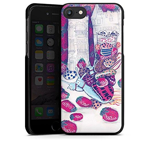 Apple iPhone X Silikon Hülle Case Schutzhülle Erdbeeren Schnecken Chaos Hard Case schwarz