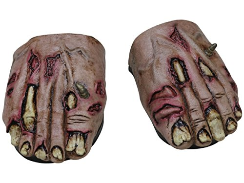 Generique - Zombie Füße Überschuhe Halloween für Erwachsene