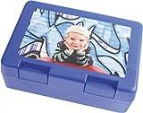 Sticker Design Shop Brotbox Brotzeitbox Brotdose individuell Bedruckt Wunsch Namen Foto Motive Text (Blau)