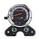 Universal Motorrad Dual Zifferblatt Kilometerzähler TACHO Geschwindigkeitsmesser Gear Digital Display