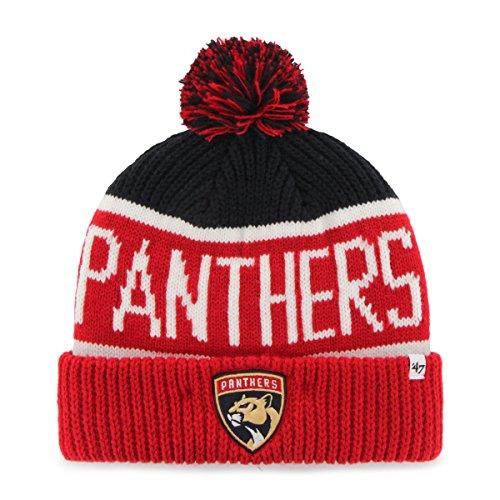 NHL Florida Panthers '47 Brand Calgary Cuff Knit mit Pom Mütze Hat