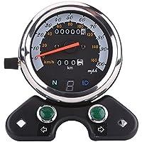 Velocímetro universal para motocicleta con doble esfera y pantalla digital