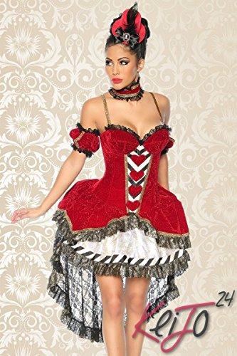 Weiß Alice Wunderland Im Kostüm - Alice-im-Wunderland-Kostüm, Größe:S