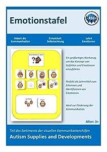 Autism Supplies And Developments-Tablero de emoción Visual de plástico (alemán) (DE_EB)