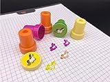 12x Einhorn Stempel selbstfärbend Mitgebsel Kindergeburtstag für Jungen & Mädchen Regenbogen von TK-Gruppe - 4