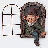 bits y Piezas-Elfo de la Puerta árbol Hugger-jardín Peeker Patio Art-Whimsical Árbol Escultura Decoración de Jardín