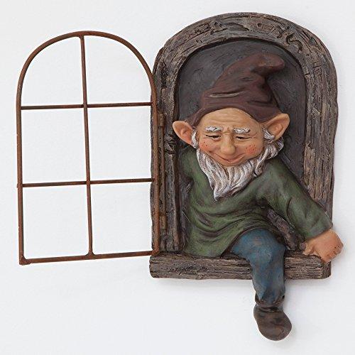 bits y Piezas-Elfo de la Puerta árbol Hugger-jardín Peeker Patio Art-Whimsical Árbol...