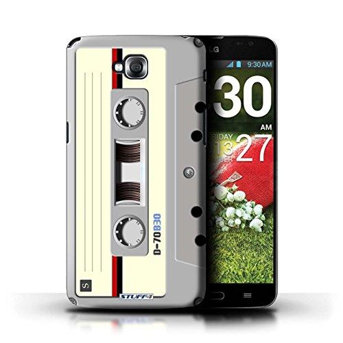 Kobalt® Imprimé Etui / Coque pour LG G Pro Lite/D680 / Boombox conception / Série Retro Tech Compact Cassette Audio