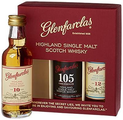 Glenfarclas Mini Tri-Pack 10/ 12/ 105 Year Old Miniatures 5 cl (Pack of 3) by Glenfarclas