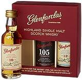 Glenfarclas Miniset 10 Jahre, 12 Jahre, 105 Jahre mit Geschenkverpackung Whisky (3 x 0.05 l)