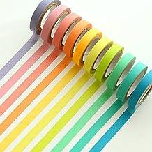 Ailiebhaus 10 Rollos de Cinta Adhesiva Decorativas Washi Tape Decorar Papel Para Manualidades DIY
