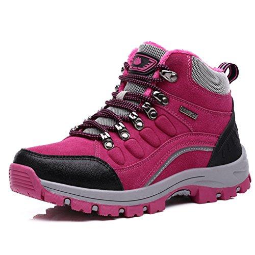 Desert chaussure randonné pour amoureux chaussure jeune jeunesse sportif anti-dérapage imperméable marché outdoors chaude homme femme Rose