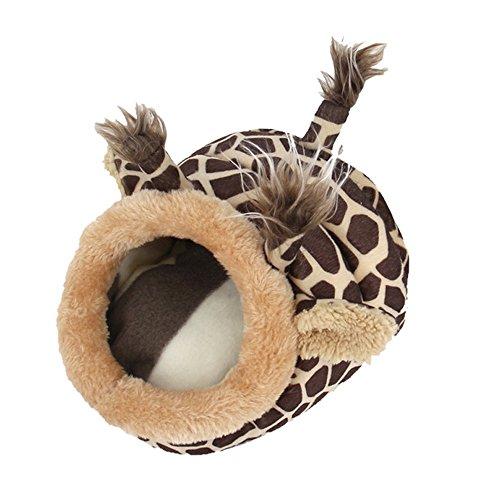 URIJK Kleine Tier Haus Nest Gemütlich Warm Plüsch Baumwolle Schlafen Bett Höhle für Lgel Katze Kaninchen Hamster Meerschweinchen Chinchilla