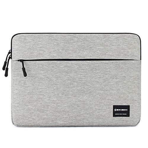 """SINSIM Wasserdicht Laptop Sleeve Hülle für 15.6\"""" Notebook Computer Chromebook Tablet Ultrabook of Dell HP ThinkPad Lenovo Toshiba ASUS Acer, Bag Case Tasche mit Zubehörtasche,Grau"""
