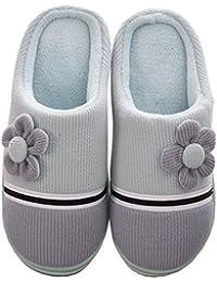 Zapatillas Mujer Invierno, Eagsouni® Otoño Invierno Zapatillas Interior Casa Caliente Slippers De Estar Por Casa Suave Antideslizante Slippers Pareja Zapatos Pareja Zapatos