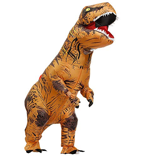 Kostüm Dinosaurier Show - TIKENBST Halloween Schmuck Dinosaurier Aufblasbare Kleidung Tyrannosaurus Show Kostüm Erwachsene Kinder Party Requisiten Foto Kostüme,Large