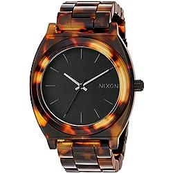 Nixon Time Teller Acetate - Reloj (Reloj de pulsera, Masculino, Acero inoxidable, Negro, Naranja, Acero inoxidable, Negro, Naranja)