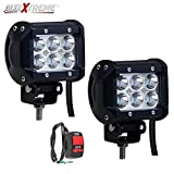 #8: Allextreme Led Motorcycle Fog Lamp Drl Fog Light & On/Off Button Switch for All Motorcycles, ATV, Boats and Cars(18 Watt,Pack of 2)