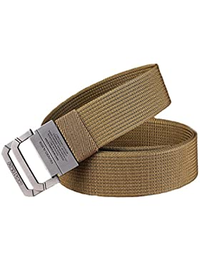 MUMUGO Equipo Militar Táctico Cinturón Hombre Doble Anillo Hebilla Espesar Cinturones de Lona para Hombres Pretina