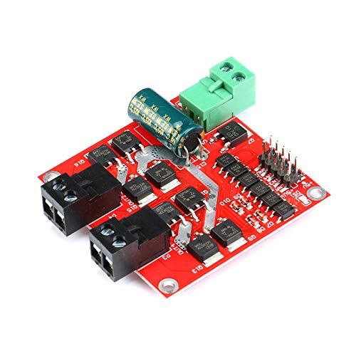 iHaospace 7A 160W Dual H-Bridge DC Motor Drive Module PWM Motor Drive Speed Controller Board -