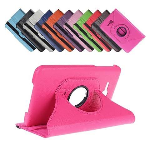 Bralexx 360° Rotation Tasche für Samsung Galaxy Tab 3 7.0 Zoll Lite, Pink