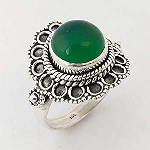 Green Onyx Handmade 925 Sterling Silver Ring Jewelry