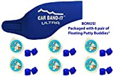 Kopfband/Ohrschutz, Putty Buddies Band-It Ohrschutz zum Schwimmen, Ohrstöpsel, 6 Paar, weiche Silikonohrstöpsel, von Ärzten empfohlen, blau, Medium (ages 4-9)
