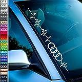 1A Style Sticker Pulsschlag Ringe Frontscheibenaufkleber Herzschlag Audi Liebhaber RS 8V S3 8p 8L b5 b6 F12
