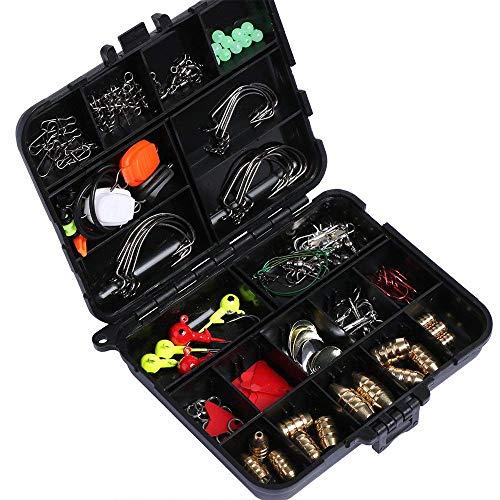 Goture ausgewählt Karpfen Tackle box Angelzubehör set mit Haken,Gummischläuchen,Drehgelenk,Perlen,Ärmeln und Stopper