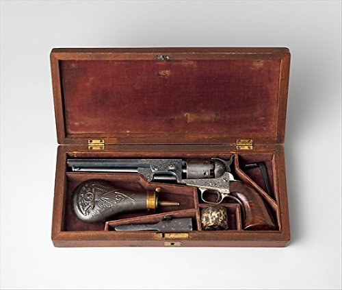 colt-model-1851-navy-percussion-revolver-serial-number-29705-with-case-and-accessories-fine-art-prin