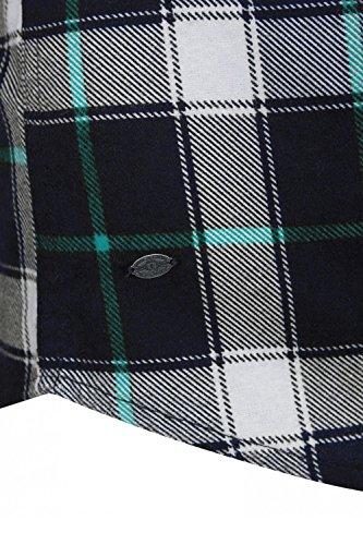 Tokyo Laundry - Chemise casual - Avec boutons - À Carreaux - Col Boutonné - Manches Longues - Homme Porcelain Green