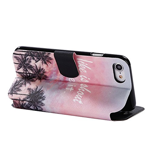 """For IPHONE 7 4.7""""[COLORFUL PU DDUD]Fashion Cute Magnetic Snap Wallet Card Flip Synthetic Holster Leather Stand With TPU Case Cover -DD07 DD08"""