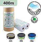 Recharges de poubelle à couches et anti-odeurs compatible avec Sangenic, Angelcare et Litière Litter Locker II - inclus le tube en carton pour faciliter la recharge (400m)