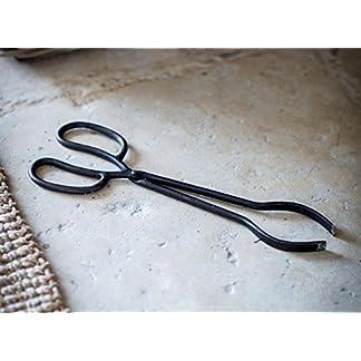 Tenazas de hierro fundido para chimenea, de la marca Garden Trading