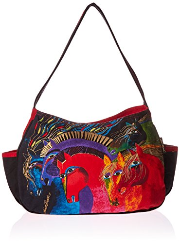laurel-burch-laurel-burch-medium-hobo-zipper-top-15-inch-by-4-1-2-inch-by-9-inch-wild-horses-of-fire