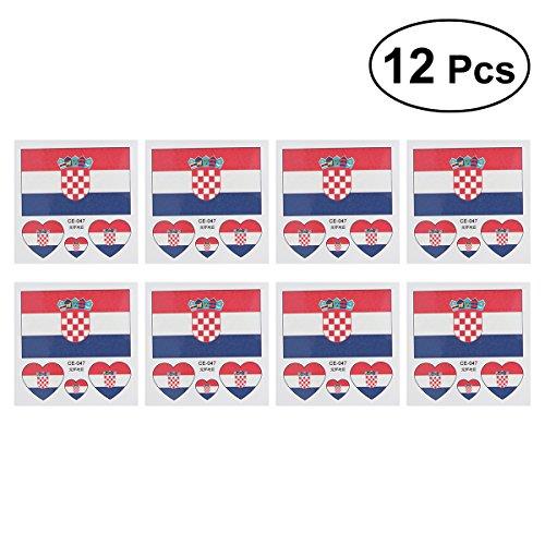 Luoem bandiera bandiera croazia paesi tatuaggi temporanei di fan articolo mondiali di calcio 201812pezzi croatia