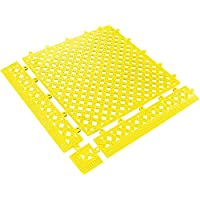"lok-tye mat320yw lok-tyle alfombrilla de drenaje, 12""X 12"", amarillo"