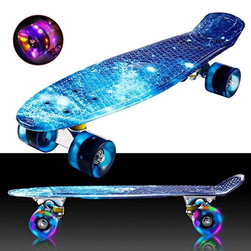 Hiriyt Mini Cruiser Skateboard Retro Komplettboard -