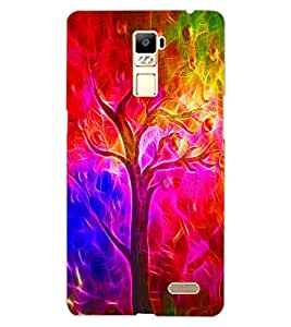 ColourCraft Colourful Tree Design Back Case Cover for OPPO R7