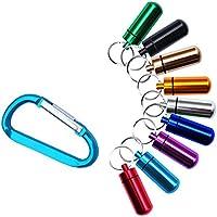 SZHAIYU Pillendose aus Aluminium mit großen air-tight Band Pill Fob Pillen mit Pille Pillendose mit Schlüsselanhänger... preisvergleich bei billige-tabletten.eu
