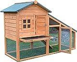 Conejito Arca Conejera Guinea Pig Pen Casa jaula con construido en Ejecutar - BUNNY ARK GOLDEN ES