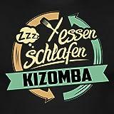 Essen Schlafen Kizomba Tanzen RAHMENLOS Hobby Lustig Geschenk Männer T-Shirt von Spreadshirt®, 3XL, Schwarz -