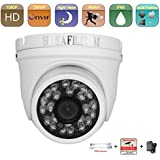 HOSAFE 1080P HD Intérieur / Extérieur Caméra dôme IP Caméra de surveillance Surveillance Night Vision ONVIF avec injecteur POE et adaptateur secteur